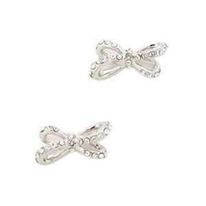 "Kate Spade || ""Tied Up"" Pave Stud Bow Earrings"